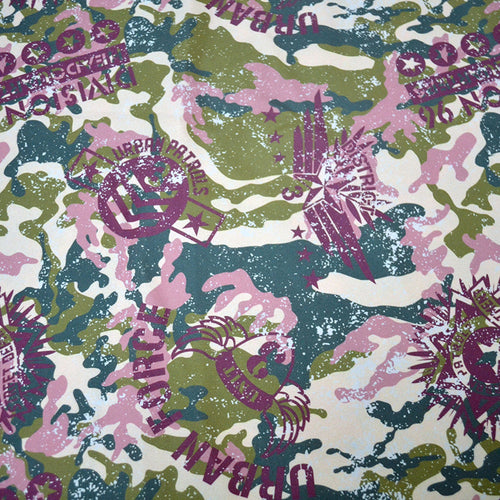 Chiffon Fabric With Urban camouflage with military badges Grunge vector seamless pattern 25461915