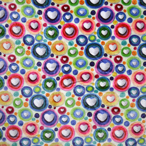 Minky DEC01 Fabric With Seamless pattern with hearts 25502732