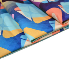 Load image into Gallery viewer, Chiffon Fabric With Seamless background pattern Abstract retro geometric pattern 31603497