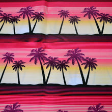Load image into Gallery viewer, Chiffon Fabric With Tropical palms at sunset seamless pattern 41494812