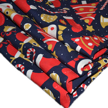 Load image into Gallery viewer, Cotton Lycra Fabric For Cute Christmas Colorful Seamless 49349564