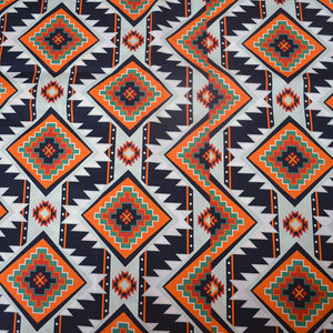 Cotton Satin Fabric With Traditional First nations clothing seamless pattern 22968069