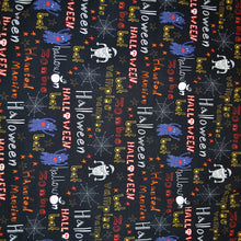 Load image into Gallery viewer, Cotton French Terry Fabric With Halloween cartoon bright seamless Background 27205411