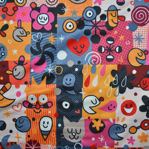 Polyester Double Brushed Fabric With fun cartoon pattern 31818299