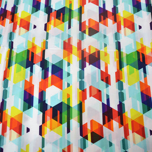 Cotton Satin Fabric With colored triangle seamless pattern 25988357
