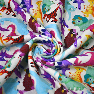 Cotton French Terry Fabric For seamless dinosaur pattern 8598886
