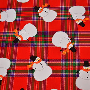 Cotton French Terry Fabric With Snowman pattern 45301345