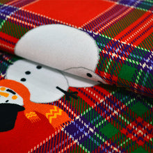 Load image into Gallery viewer, Cotton French Terry Fabric With Snowman pattern 45301345