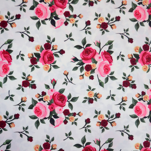 Swim Wear Fabric Polyester Lycra With Vintage seamless pattern with roses Vector illustration 23558877