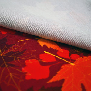 Cotton French Terry Fabric With Autumn seamless 13673369