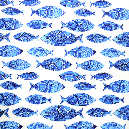 Swim Wear Fabric Polyester Lycra With seamless pattern with fishes, watercolor hand painted background, watercolor fish 27757029