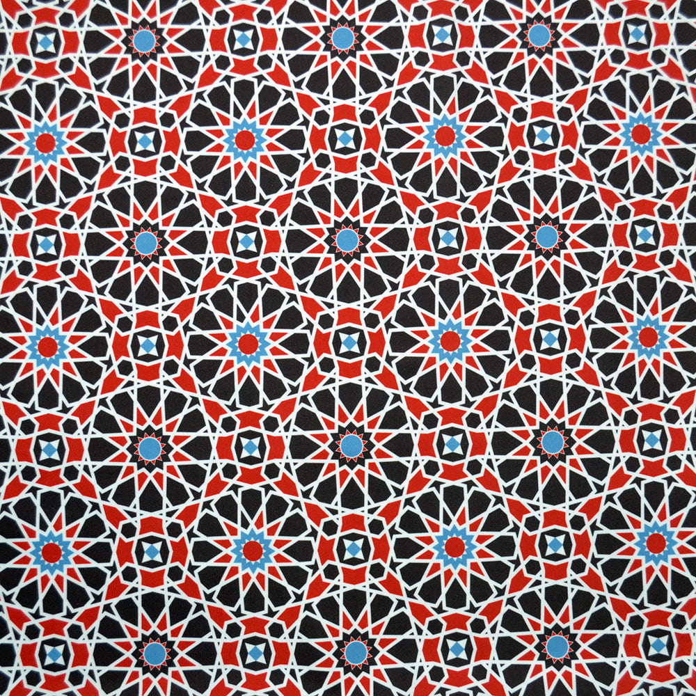 Swim Wear Fabric Polyester Lycra With Arabesque seamless pattern in editable 13870157