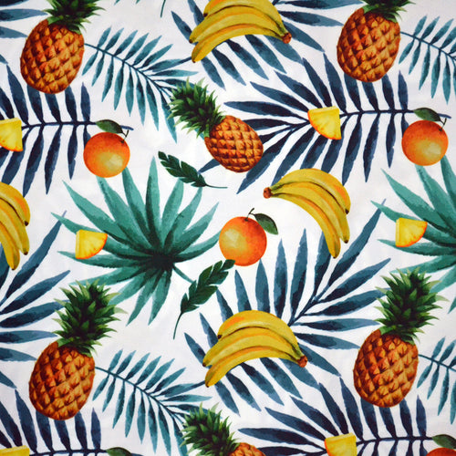 Swim Wear Fabric Polyester Lycra With Exotic fruits seamless pattern 37763752