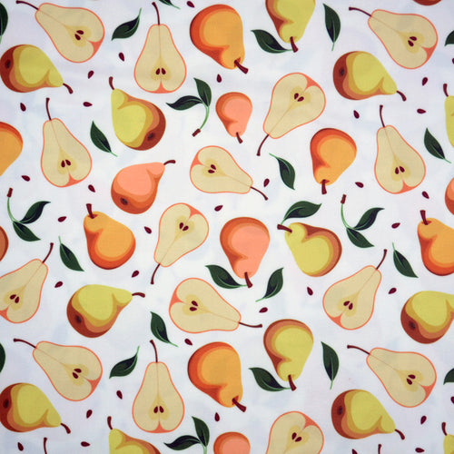 Swim Wear Fabric Polyester Lycra With Seamless background with pears 31055225