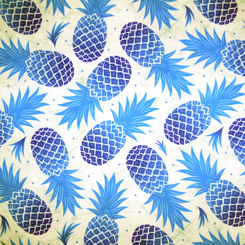 Swim Wear Fabric Polyester Lycra With Vintage pineapple seamless 29795659