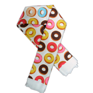 Swim Wear Fabric Polyester Lycra With Colorful donuts cookies seamless background 38742539