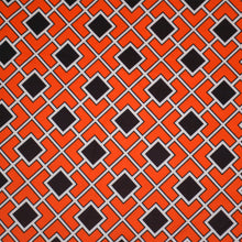 Load image into Gallery viewer, Polyester Double Brushed Fabric With Seamless pattern in Halloween traditional colors. Diagonal square chain abstract 62981541