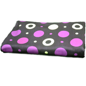 Polyester Double Brushed Fabric With Violet and white-pink seamless dark pattern 10120729