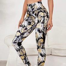 Load image into Gallery viewer, Feather Print Sublimation  Eco Friendly Anti Cellulite Compression Leggings Wholesale Ombre Custom Logo Gym Legging