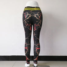 Load image into Gallery viewer, New Style Hot Sale High Waist Sport Fitness Fresh Women Yoga Pants Marble Printed Leggings