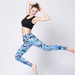 Custom Activewear Printed Leggings High Waist Sport Fitness Pants For Women