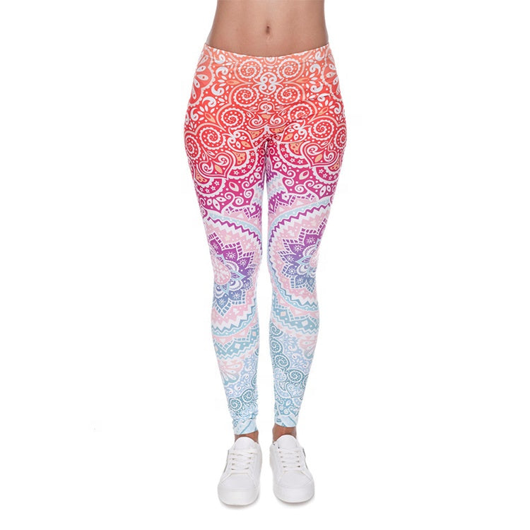 92% Polyester 8% Spandex Double Brushed Milk Silk Ombre Womens Gym Leggings Hot Sale Products                                                          NO MOQ