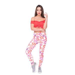 Wholesale Custom Hot Sale New Design Spandex 3D Print Gym Fitness Leggings For Women