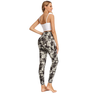 Hot Sell Lady Sport Wear Custom Activewear Print Textured Woman Set Fitness Leggings