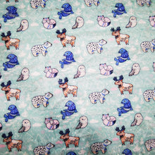 Load image into Gallery viewer, Minky DEC01 Fabric With Bears Foxes Animals