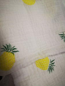 Muslin Fabric For vector illustration of a pineapple 60393253