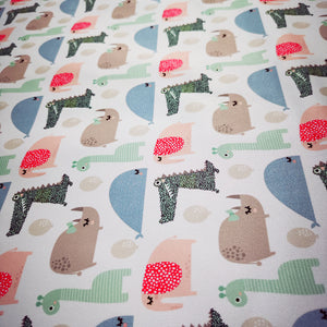 PUL Fabric Seamless pattern with rhinoceros, elephant, crocodile, whale. Creative bay animals background. Perfect for kids apparel, fabric, textile, nursery decoration, wrapping paper 90867909