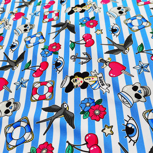 PUL Fabric Old school seamless pattern in rockabilly style 81713687
