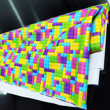 Load image into Gallery viewer, PUL Fabric Plastic construction blocks Seamless 13566474
