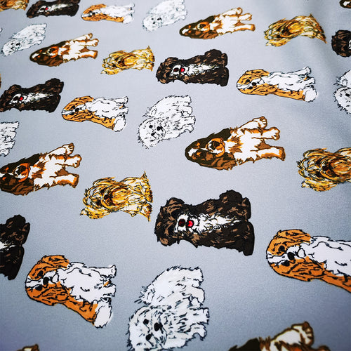 PUL Fabric  Cute dogs collection seamless pattern 92547188
