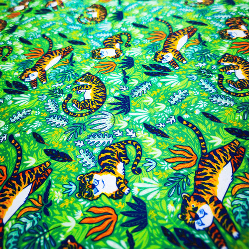 PUL Fabric For Nappy Lovely Tiger Seamless Pattern 98618276