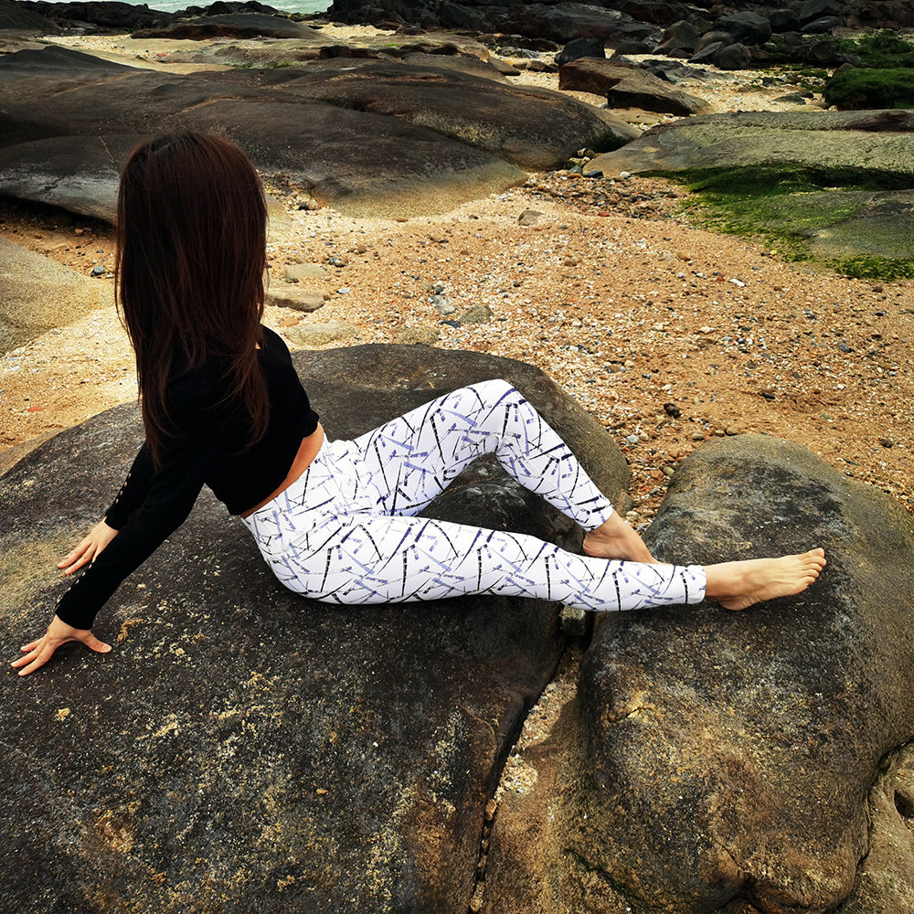 Women Print High Waist Yoga Leggings Female Fitness Sport wear