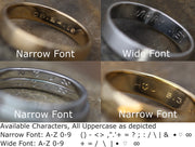 3mm Diamond 4mm Wide Band Flush Set Wedding Band Glossy Finish - Diamond Inset Band
