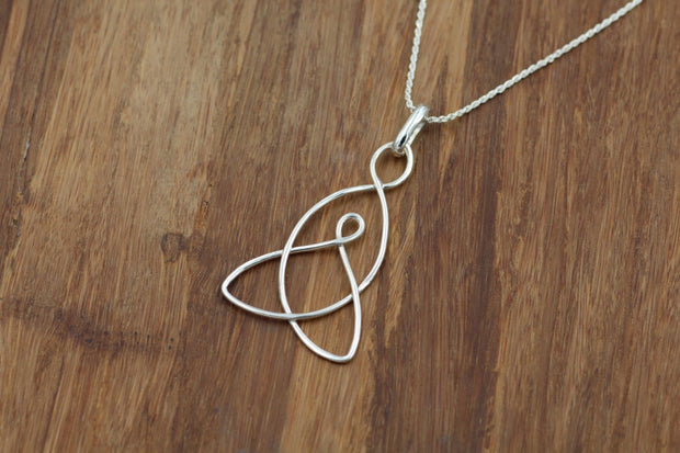 Celtic Mother Child Knot Pendant (Larger Size) - MotherChild Pendant - MotherChild Necklace - Celtic Knot Necklace