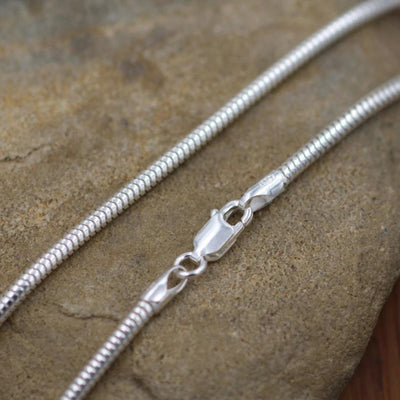 "Sterling Snake Chain, 2.5mm, Seemless 925 -  choice of 16"", 18"", 20"", 24"" or 30"" - Silver Snake Chain - Thick Snake Chain"