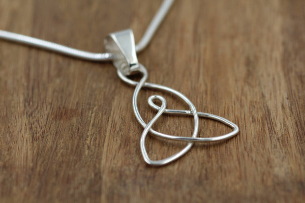 Celtic Mother Child Pendant -  Small, Celtic Necklace, Silver Knot, Alternative Necklace, Recycled Sterling Silver