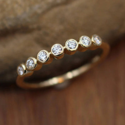 Diamond Multi Bezel Wedding Ring in 14 or 18 Karat Gold - VS Diamond - Diamond Wedding Ring - Diamond Bezel - Diamond Ring - Engagement Ring