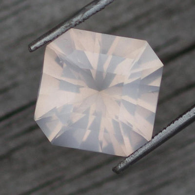 Hand Cut Rose Quartz Octagon Gemstone - Precision Cut 15mm Rose Quartz - Madagascar Quartz - Loose Gemstone - Designer Gem
