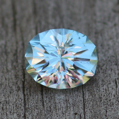 Sky Blue Topaz Oval Hand Cut Gemstone - Precision Cut 9x11mm Blue Topaz - Brazilian Topaz - Loose Gemstone - Precision Cut Gemstone
