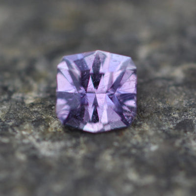 Umba Purple Sapphire Hand Cut Gemstone - Precision Cut 5mm Square Sapphire - Tanzanian Sapphire - Loose Gemstone - Precision Cut Gemstone