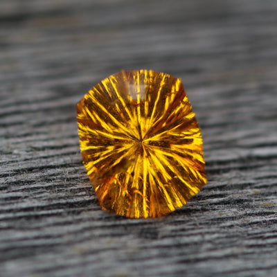 Cushion Spessartite Garnet, 8.2x6.6, 1.8 carats - Fantasy Cut Loliondo Spessartite - Natural Orange Garnet