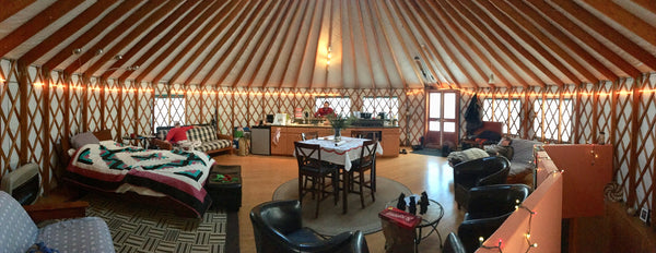 Relaxing In A Yurt Beth Millner Jewelry's Favorite Winter Things