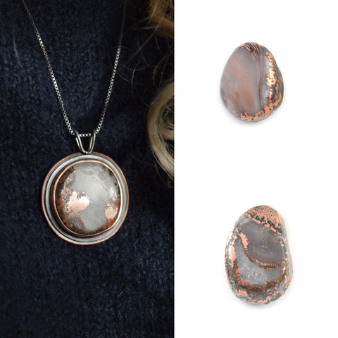 Lake Superior Copper Agates in Beth Millner Jewelry