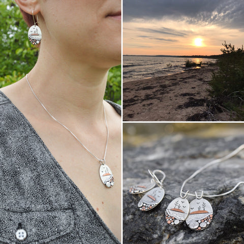 Locally Inspired Picnic Rocks Series by Beth Millner Jewelry