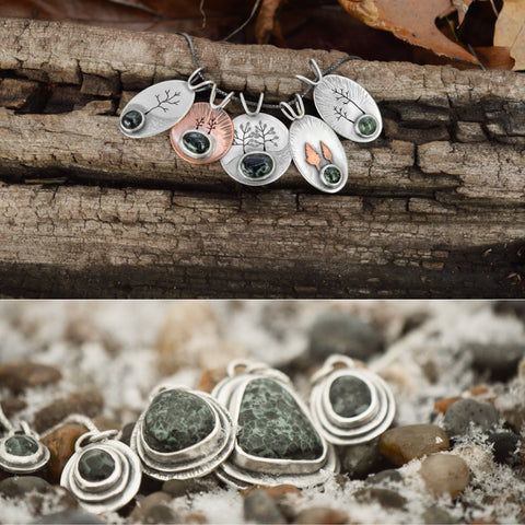 Michigan Greenstones in Beth Millner Jewelry