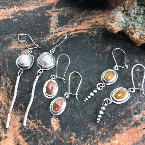Michigan Lake Superior Agate Earrings by Beth Millner Jewelry